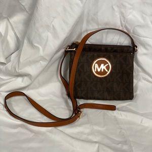 Michael Kors brown crossbody bag